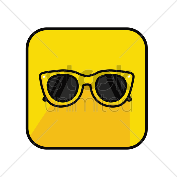 sunglasses on yellow back ground vector graphic
