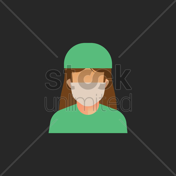 surgeon vector graphic