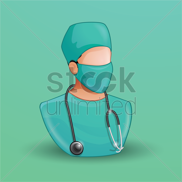 Free surgeon vector graphic