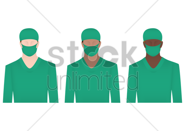 surgeons vector graphic