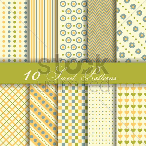 Free sweet patterns vector graphic