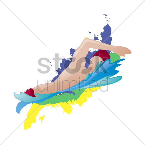 swimmer in action vector graphic