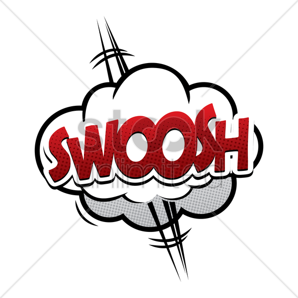 swoosh comic speech vector graphic