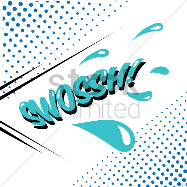 swoossh comic speech bubble vector graphic