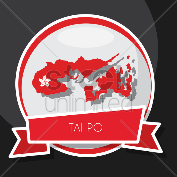 tai po map vector graphic