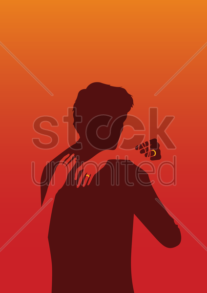 tango shadow poster vector graphic