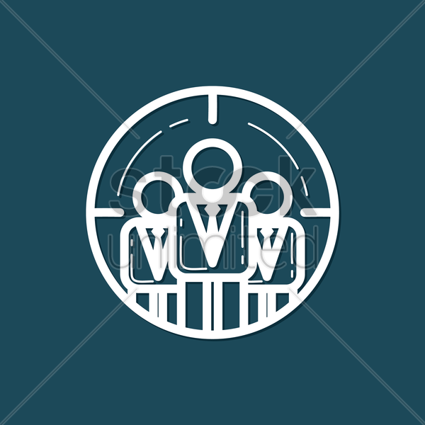 Free target teamwork vector graphic