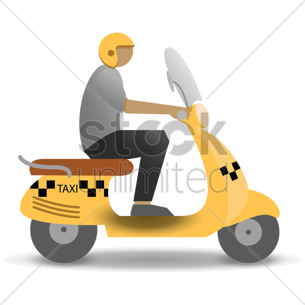 taxi motorcycle vector graphic