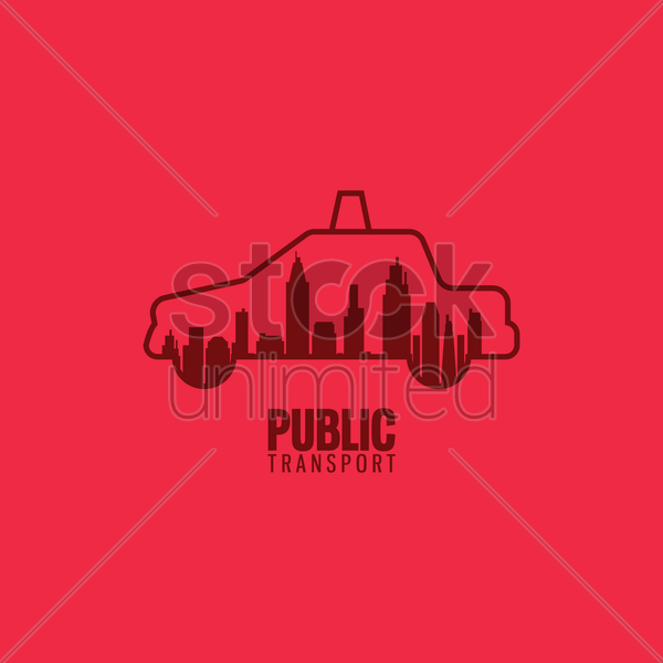 taxi public transport vector graphic