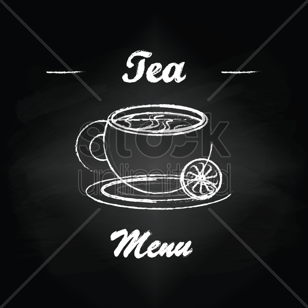 tea menu card design vector graphic