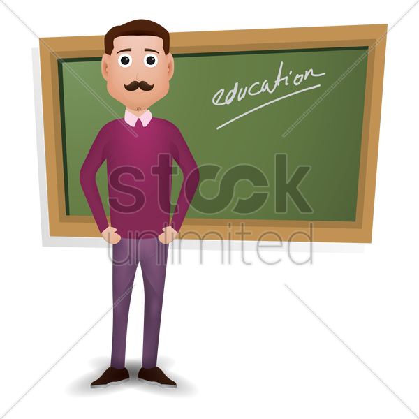 teacher standing vector graphic
