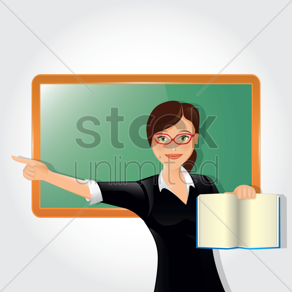 Free teacher vector graphic