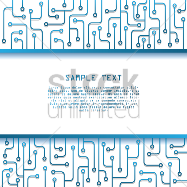 technical circuit board background vector graphic