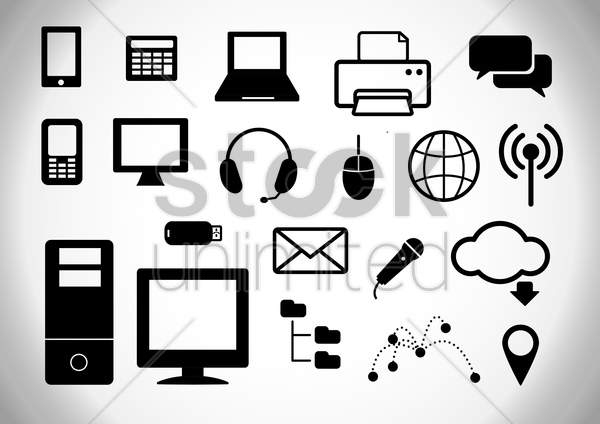 technological collection vector graphic