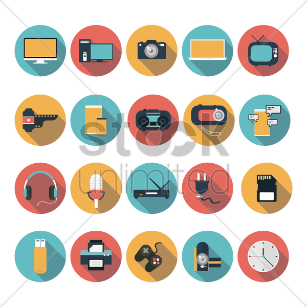 Free technological devices vector graphic