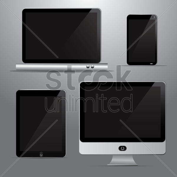 technological devices vector graphic