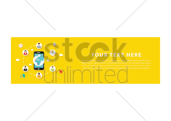 technology banner vector graphic