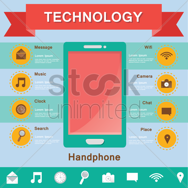technology infographic vector graphic