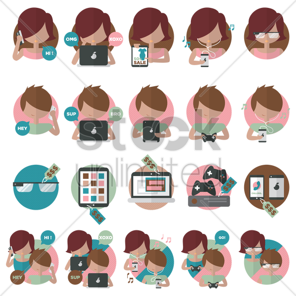 technology vector graphic