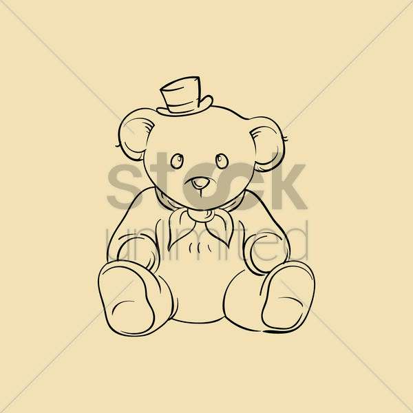 teddy bear vector graphic