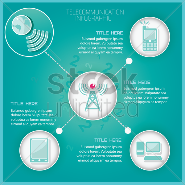 telecommunication infographic vector graphic