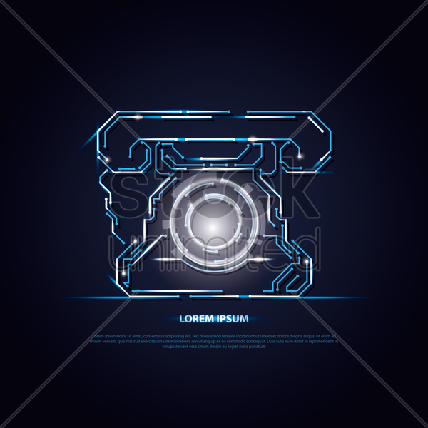 telephone circuit background vector graphic