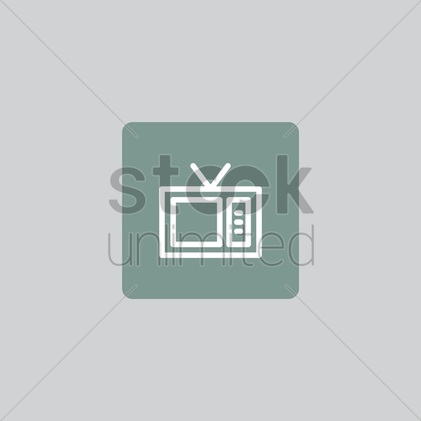 television icon vector graphic