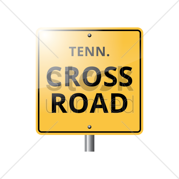 tennessee crossroad sign vector graphic