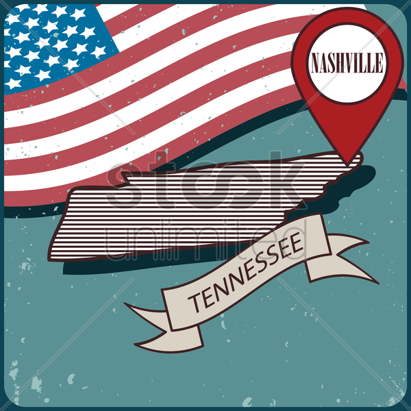 tennessee map label vector graphic