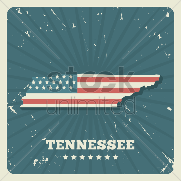 tennessee map vector graphic