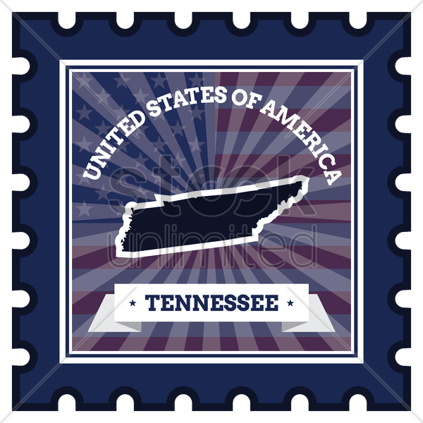 tennessee postage stamp vector graphic