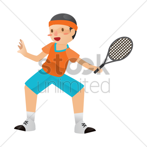 tennis player vector graphic