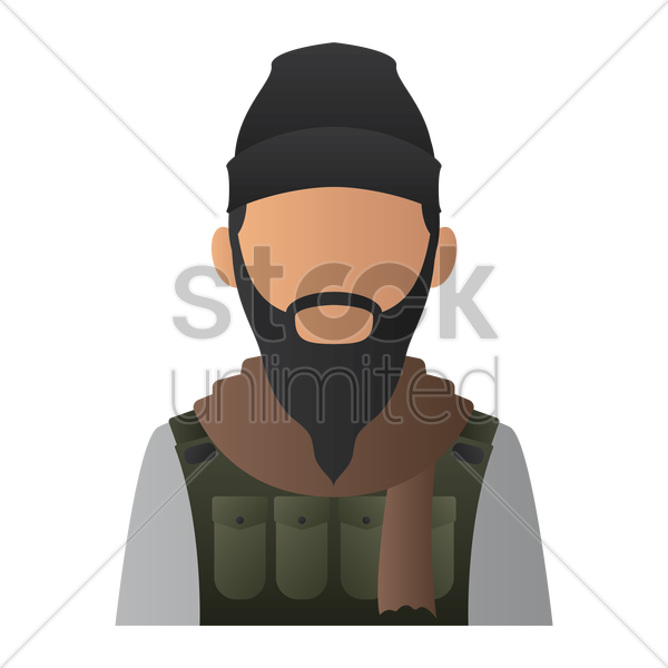 terrorist vector graphic