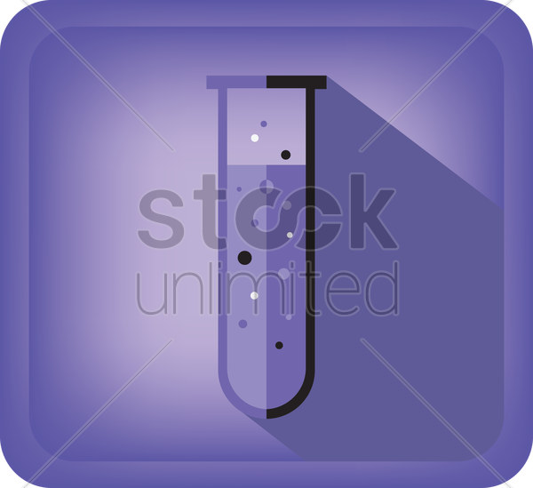 test tube vector graphic
