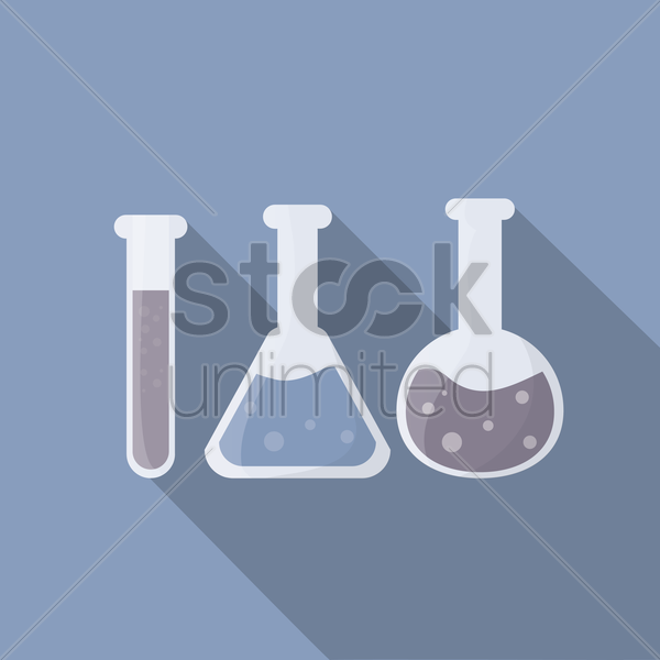 test tubes vector graphic