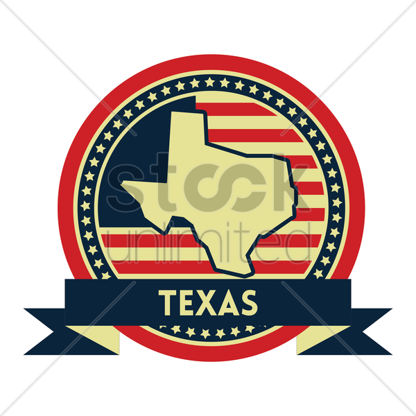 Free texas map label vector graphic
