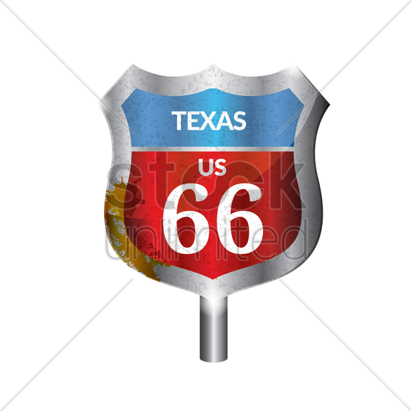 texas route signboard vector graphic