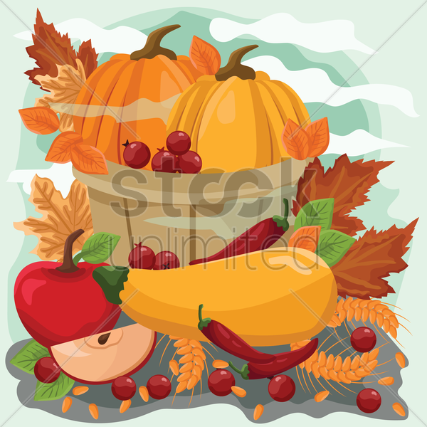 thanksgiving poster vector graphic