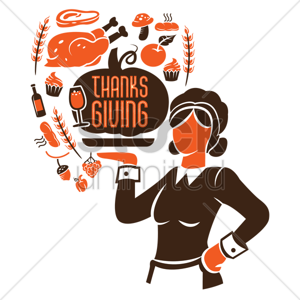 thanksgiving vector graphic