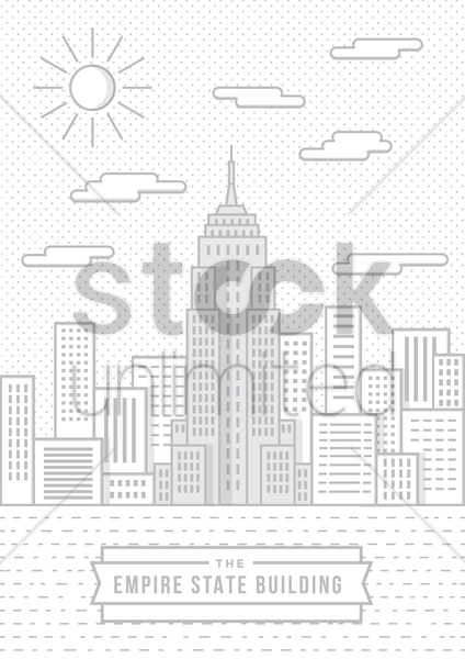 the empire state building vector graphic