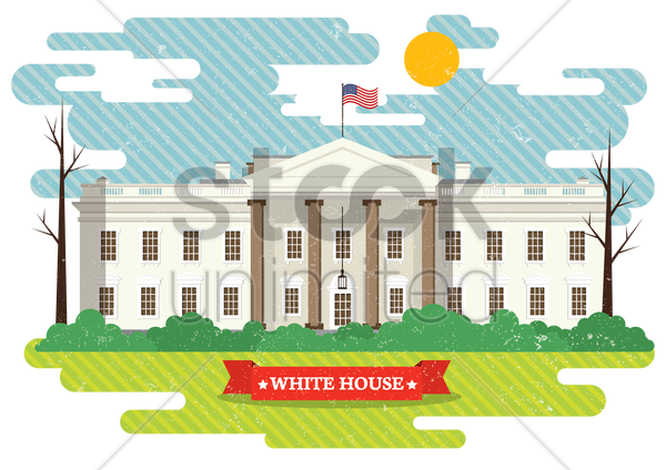 the white house vector graphic