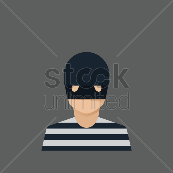 Free thief vector graphic