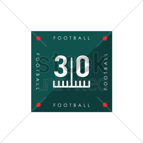 thirty yard line on american football field vector graphic