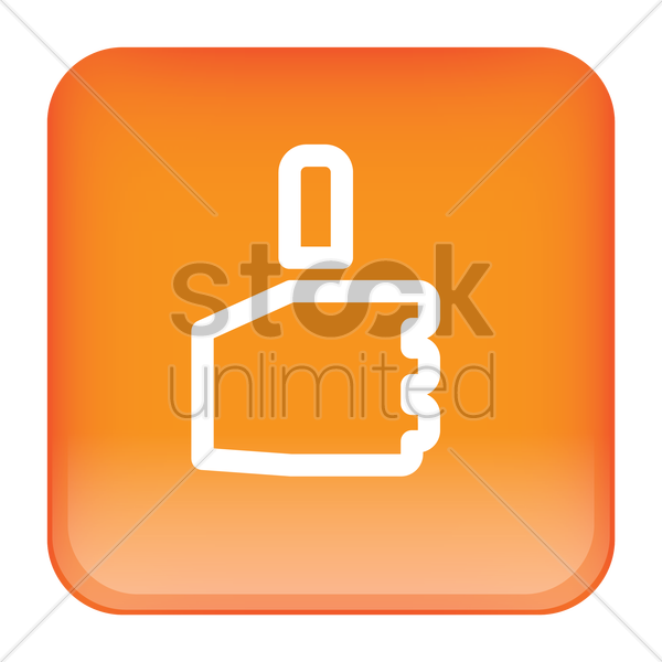 thumbs up icon vector graphic