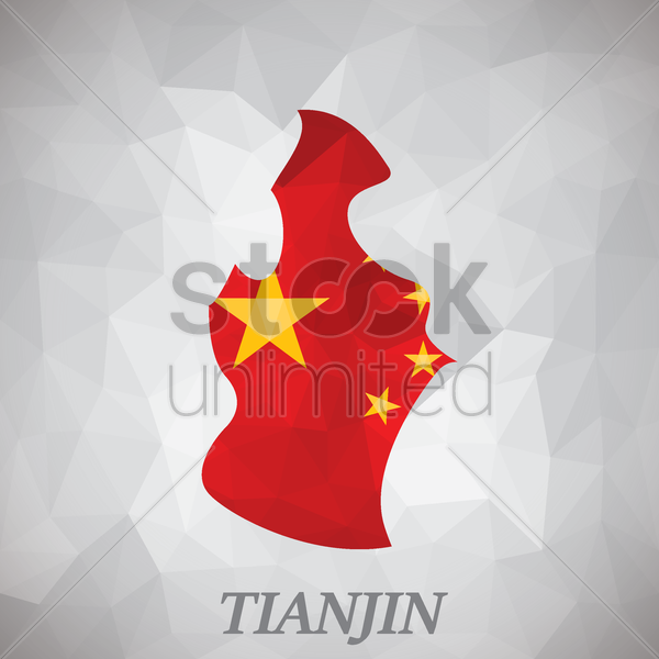 tianjin map vector graphic