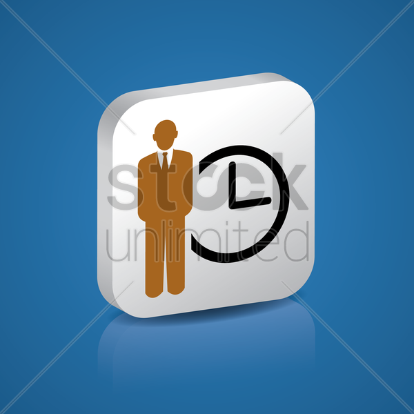 Free time management vector graphic