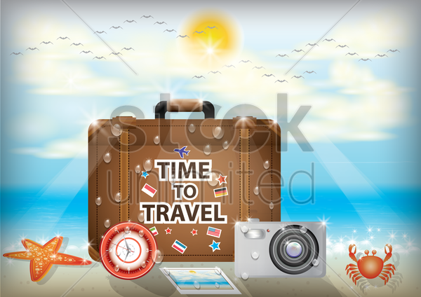 time to travel wallpaper vector graphic
