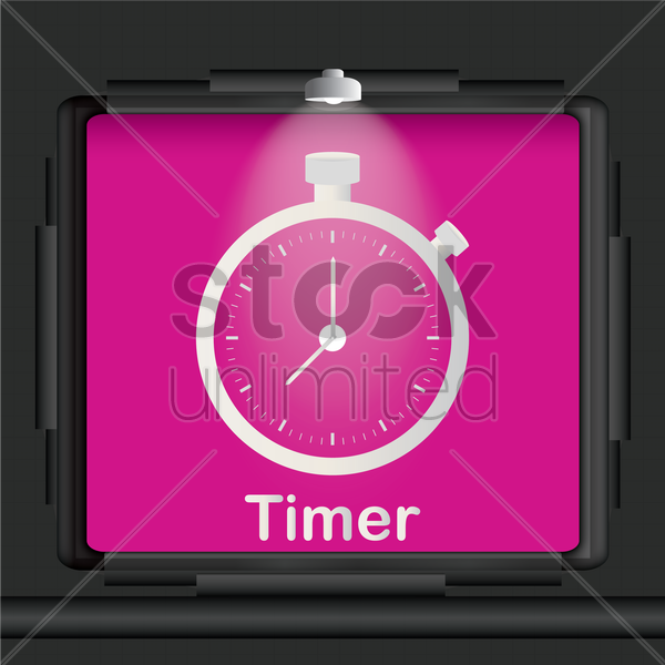 timer advertisement board vector graphic