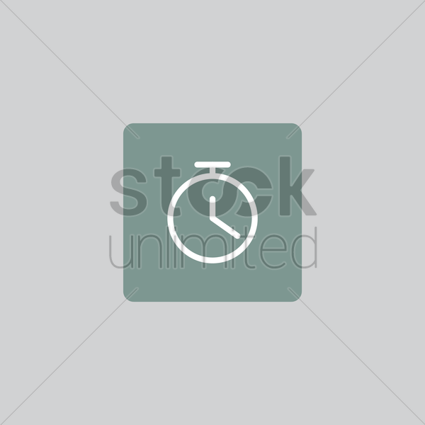 timer icon vector graphic