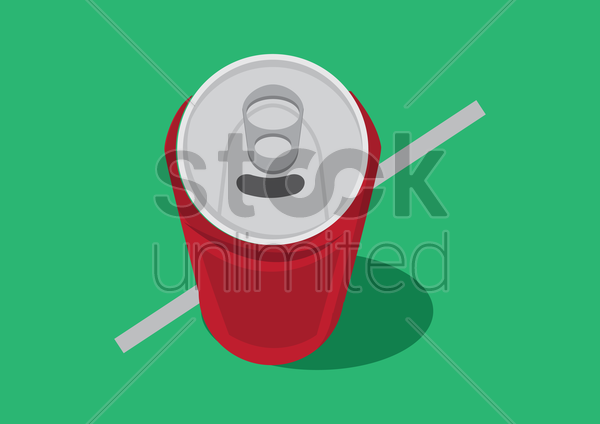 tin can vector graphic